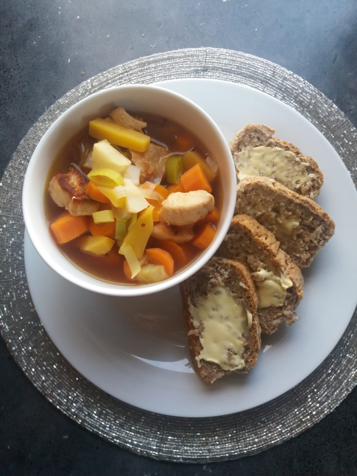 Veggie Soup with Chicken